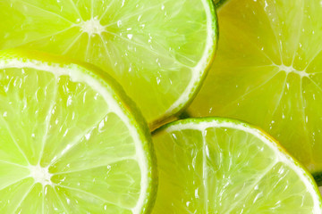 slices of limes