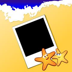 Polaroid sulla spiaggia