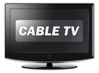 """Flatscreen TV """"Cable TV"""""""