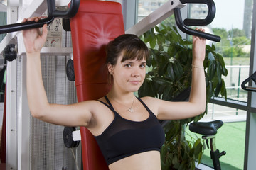 Young girl in the gym