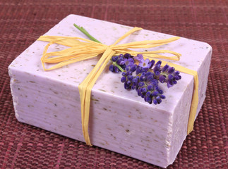 Wall Mural - Lavender soap