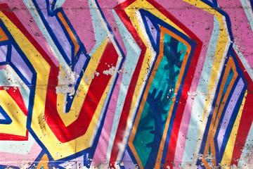 Closeup of graffiti wall