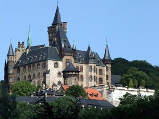 Wernigerode mit Blick auf das Schloss
