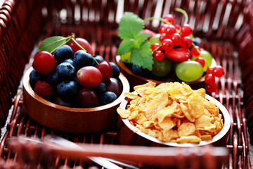 cereals with berry fruits