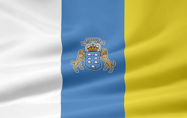 Flagge der Kanarischen Inseln