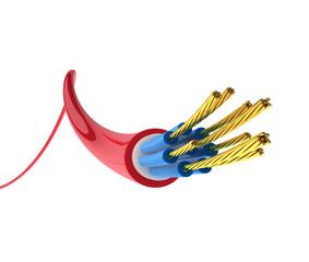 Kabel mit Freistellungspfad