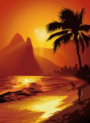 surfer an der Copacabana