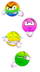 Four cute emoticons