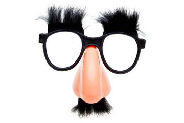Novelty glasses isoalted on a white background