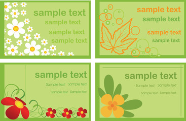Various business cards. Card Layouts
