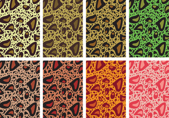 Leopard background, vector