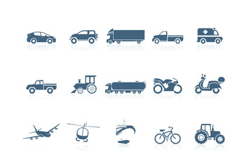 Transportation icons | piccolo series