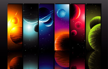 Color planets