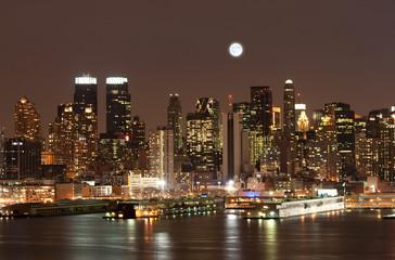 The Mid-town Manhattan Skyline