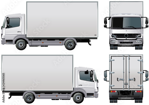 """""""Vector delivery / cargo truck"""" Stock image and royalty ..."""