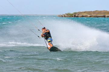 Kitesurf in the lagoon