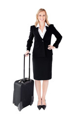 Businesswoman with bag