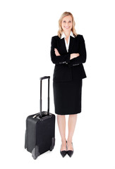 Businesswoman with small bag