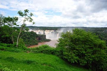 Iguacu waterfalls in Brazil - top