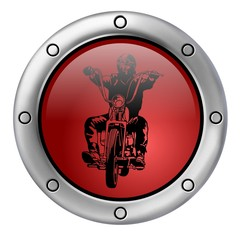 Fototapete - biker botton