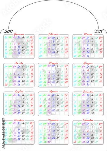 Calendario Zodiacale.Calendario 2011 Con Immagini Zodiaco Stock Photo And