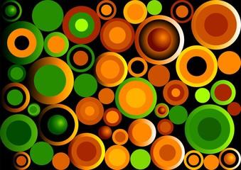 Retro Circles_Green and Orange