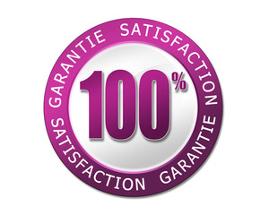 label garantie satisfaction violet