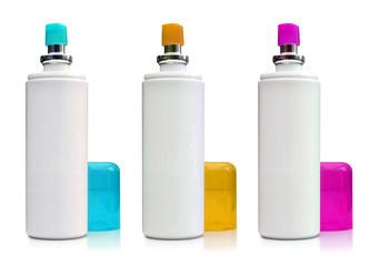 Spray cyan, magenta, jaune
