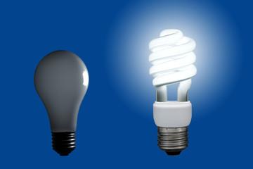蛍光灯と白熱電球