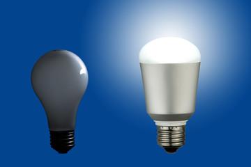 LED電球と白熱電球