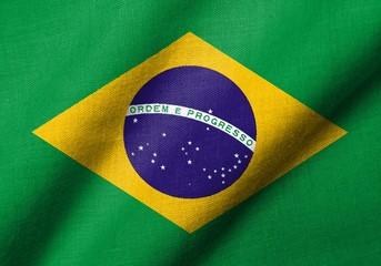 3D Flag of Brazil waving