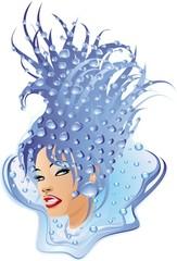 Donna d'Acqua-Water Woman-Femme d'Eau-Vector
