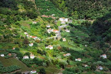 Village on the north coast of Madeira island – Portugal