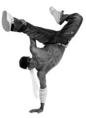 Hip hop dancer freezed his movements