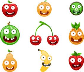 Vector Crazy Fruits