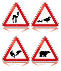 Fototapete - Vorsicht Tiere