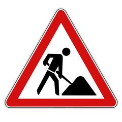 Bauarbeiten Schild