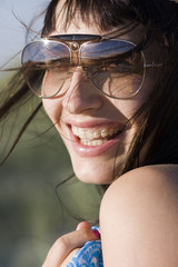 Portrait of atractive young woman smiling