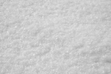 macro of snow with crystals