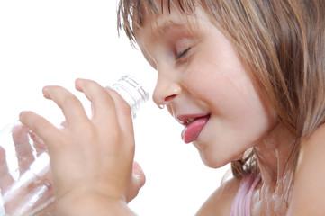 Summer thirsty child