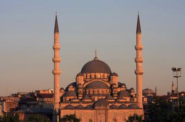 A view of Eminonu Mosque in istanbul, Turkey