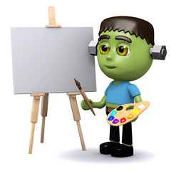 3d Frankenstein the artist