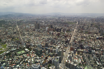 The view across Taipei, captial of Taiwan
