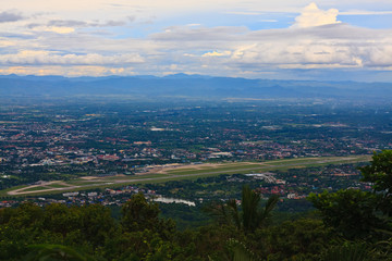 Chiang Mai airport & cityscape