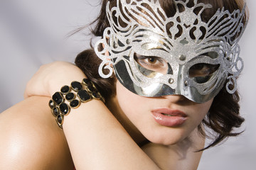 Charming Asian woman in a mask