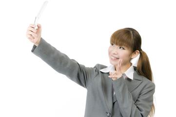 新入社員(自分撮り)