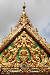 art on gable, Wat Nongnaewararam, Kud Rang, Mahasarakam