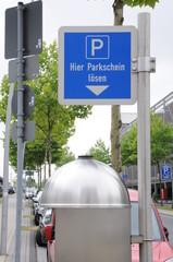 Schild, Parken