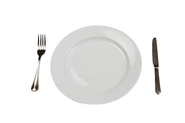 Plate, Knife, and Fork