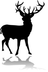 deer black silhouette
